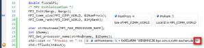 Screenshot: Visual Studio 2010 Debugging Session, Laminated Variable