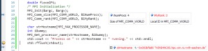 Screenshot: Visual Studio 2010 Debugging Session, Laminated Variable after Thread Switch
