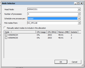 Screenshot: Visual Studio 2010 Debugging Configuration, Node Selector