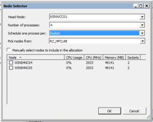 Screenshot: Visual Studio 2010 Debugging Configuration, Node Selector